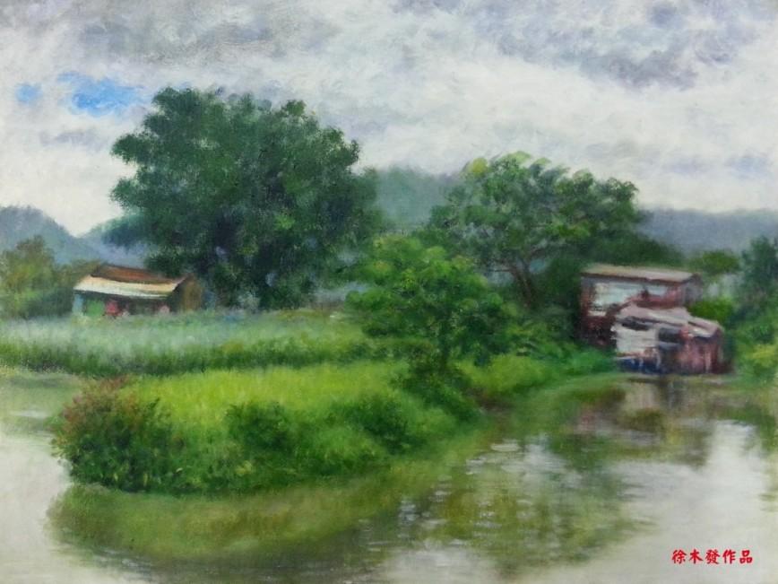 油畫作品(綠綠南生圍) oil  A.jpg