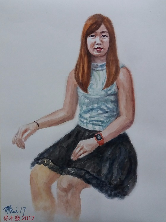 健康膚色少女 41x31cm   water color B.jpg